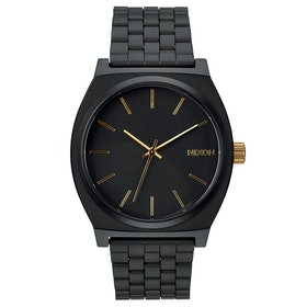 Zegarek Nixon Time Teller - Matte Black Gold