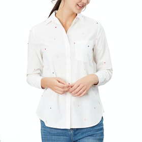 Joules Lorena Luxe Ladies Shirt - White Bees