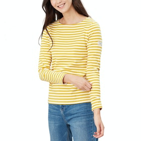 Joules Harbour Dames Top - Gold Stripe