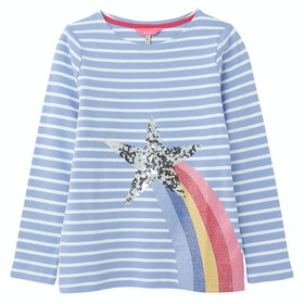 Joules Harbour Luxe Girl's Top - Blue Shooting Star