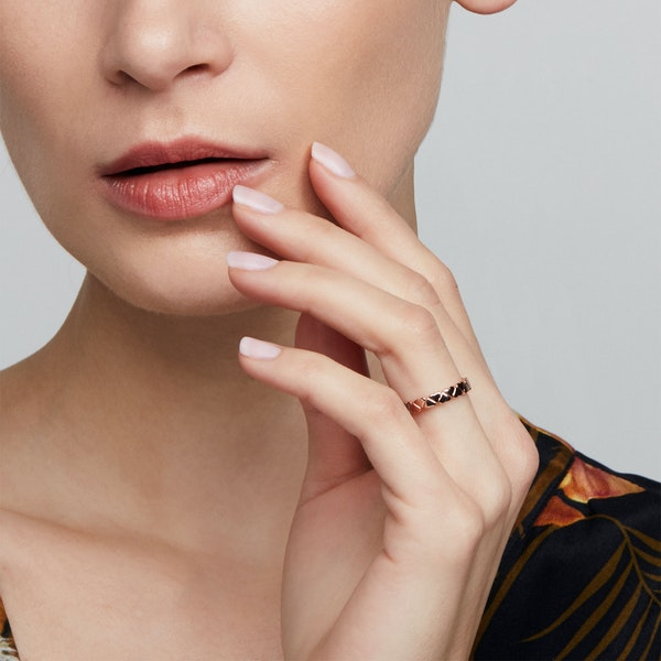 Ted Baker Harissa Heart To Heart Ring Ring