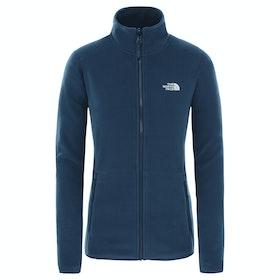 North Face 100 Glacier Full Zip Womens Fleece - Blue Wing Teal