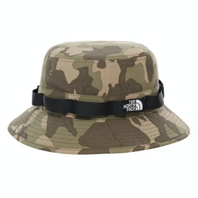 North Face Class V Brimmer Hat - Burnt Olive Green Ponderosa Pine Print