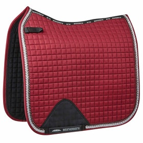 Weatherbeeta Prime Bling Dressage Saddle Pad - Maroon