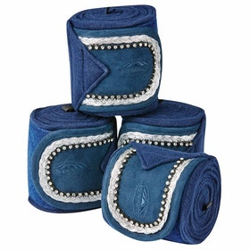 Weatherbeeta Fleece Bling Bandage - Navy