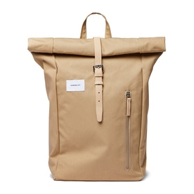 Sandqvist Dante Backpack - Beige With Natural Leather