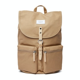 Sandqvist Roald Backpack - Beige With Natural Leather