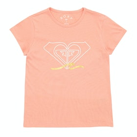 Roxy Endless Music Girls Short Sleeve T-Shirt - Salmon