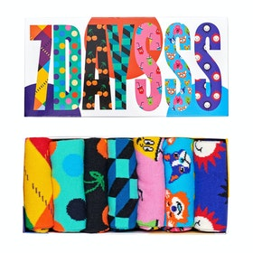 Happy Socks 7 Days Gift Box 7 Pack Socks - Multi