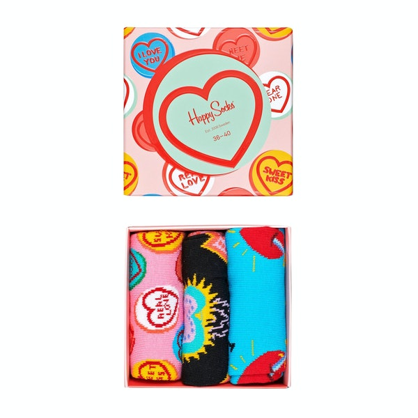 Happy Socks I Love You Gift Box 3 Pack Socks