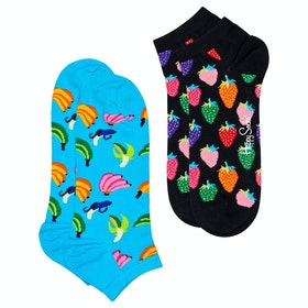 Happy Socks 2 Pack Banana Low Socks - Multi