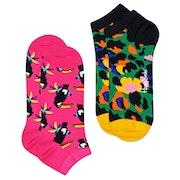 Happy Socks 2 Pack Toucan Low Fashion Socks