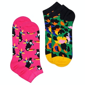 Happy Socks 2 Pack Toucan Low Socks - Multi