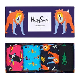 Happy Socks Animal Gift Box 4 Pack Socks - Multi