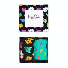 Happy Socks Cat Gift Box 2 Pack Socks - Multi