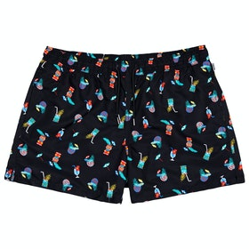 Happy Socks Tiki Soda Men's Swim Shorts - Multi