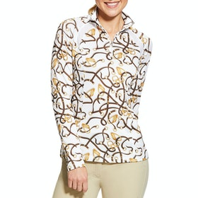Ariat Sunstopper 2.0 1/4 Zip Ladies Base Layer Top - Bridle Print