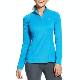 Ariat Sunstopper 2.0 1/4 Zip Damen Funktionsunterwäsche Oberteil - Nautilus