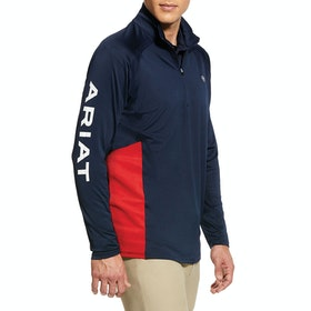 Ariat Sunstopper 1/4 Zip Funktionsunterwäsche Oberteil - Navy