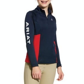Ariat Sunstopper 2.0 Turnier-Shirt - Navy