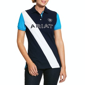 Ariat Taryn Ladies Polo Shirt - Navy Nautilus