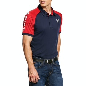 Ariat Team 3.0 Mens Polo Shirt - Navy