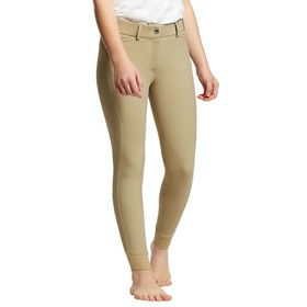 Ariat Tri Factor Eq Grip Knee Patch Childrens Riding Breeches - Tan