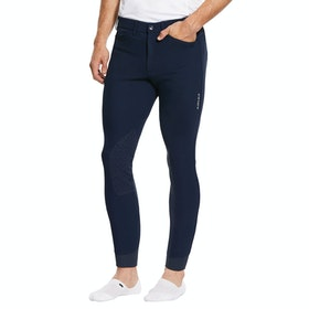Ariat Tri Factor Grip Knee Patch , Riding Breeches - Navy