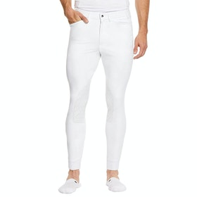 Ariat Tri Factor Grip Knee Patch Mens Riding Breeches - White