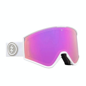 Electric Kleveland Snow Goggles - Matte White ~ Brose/pink Chrome