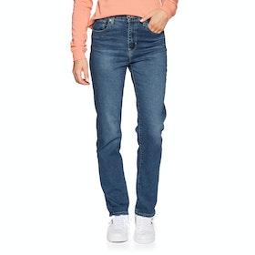 Levi's 724 High Rise Straight Dame Jeans - Paris Storm