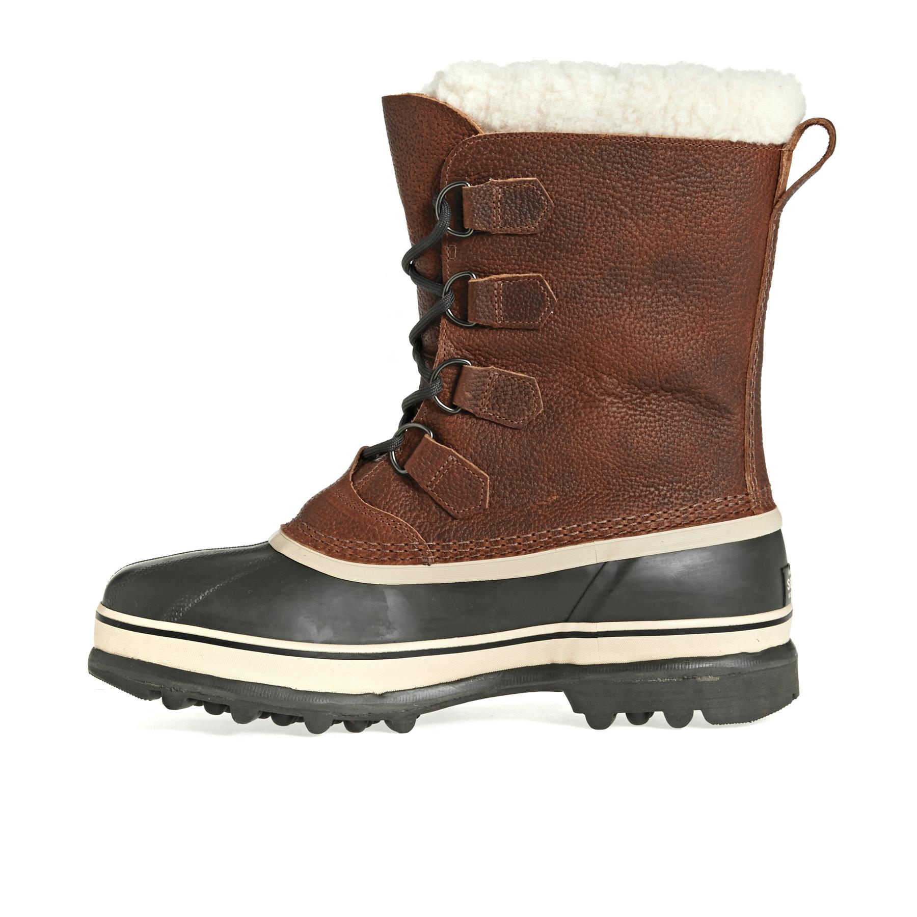 Sorel Caribou Wool Faux Fur Herren Stiefel Tobacco Verkauf