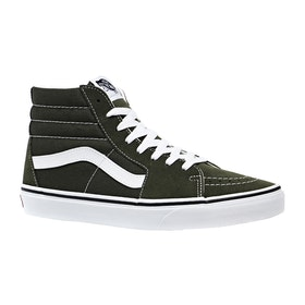 Vans Sk8 Hi Sko - Forest Night True White
