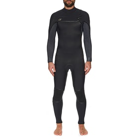 O'Neill Psycho One 5/4mm Chest Zip Wetsuit - Black Acid Wash
