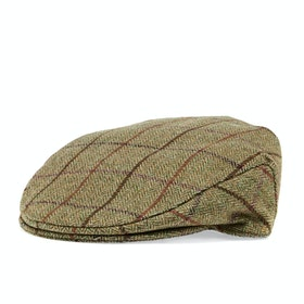 Country Attire Tweed Cap - Olive
