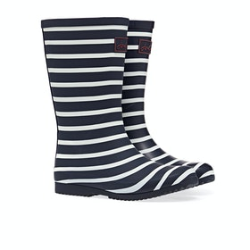 Joules Jnr Roll Up Gummistiefel - Navy Stripe