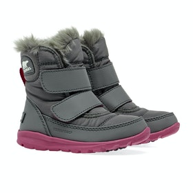 Sorel Childrens Whitney Strap Stiefel - Quarry Ultra P