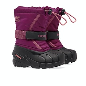 Sorel Childrens Flurry Kinder Stiefel - Deep Blush, Tro