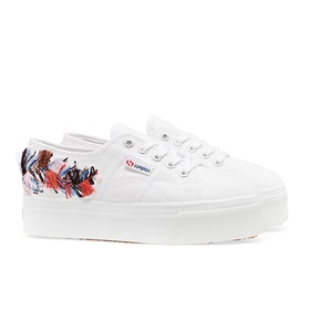 Scarpe Donna Superga 2790 Fringe Embroidery - White