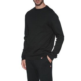 Tommy Hilfiger Track Top Heavy Weight Loungewear Tops - Pvh Black
