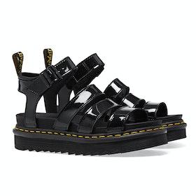 Dr Martens Blaire Women's Sandals - Black Patent Lamper