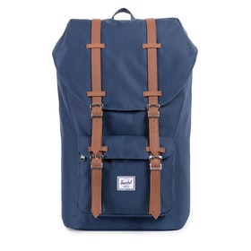 Herschel Little America Backpack - Navy tan Synthetic Leather