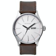 Nixon Sentry Leather Men's Watch