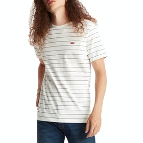 Levi's The Original Kurzarm-T-Shirt - Marshmallow Dark Slate