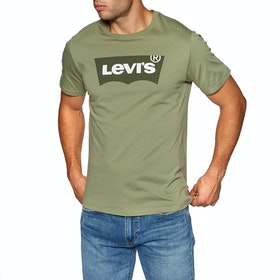 Levi's Housemark Graphic Short Sleeve T-Shirt - Hm Emb Aloe