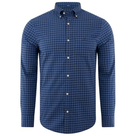 Gant Winter Twill Buffalo Check Shirt - Vintage Blue