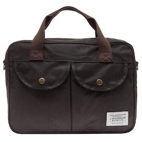 Barbour Wax Longthorpe Laptop Messenger Bag - Olive