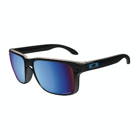 Oakley Holbrook Polarised Sunglasses - Polished Black ~ Prizm Deep Water