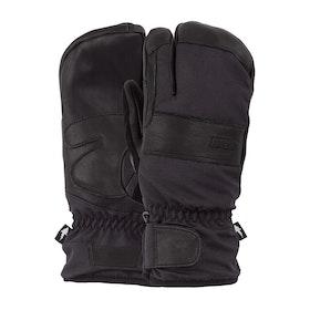 POW August Short Trigger Heren Ski handschoenen - Black
