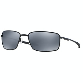 Oakley Square Wire Polarised Sunglasses - Matte Black ~ Black Iridium